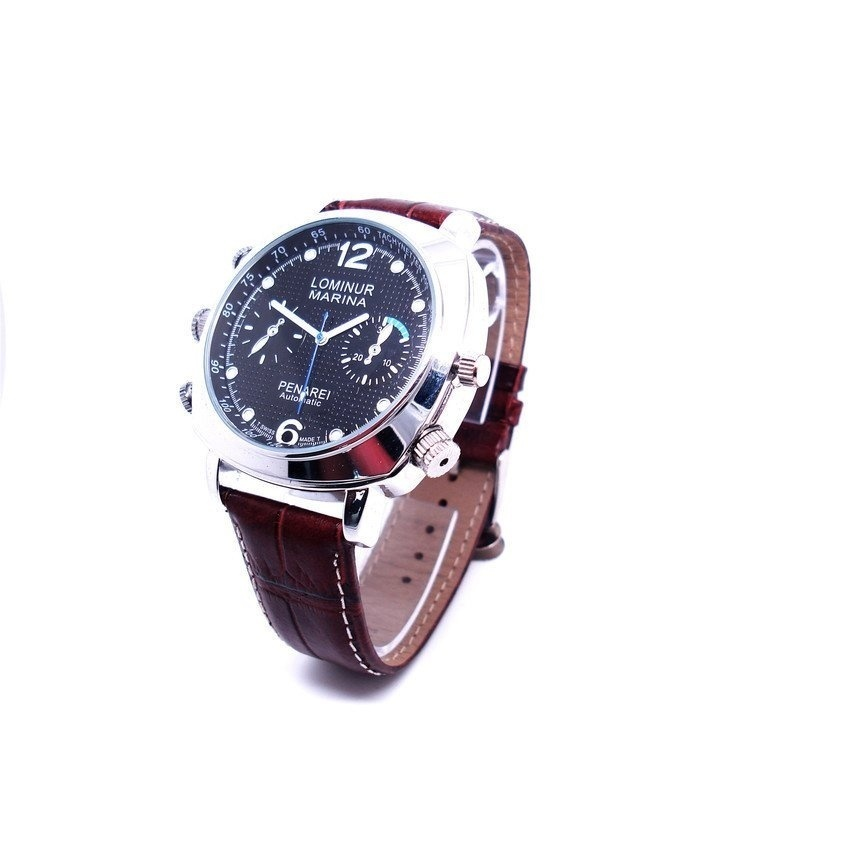 720P HD Black SPY Watch Hidden Camera Large Dial Waterproof 32GB - intl