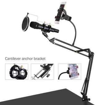 Mellius Stand Microphone Dudukan Gantung Suspension Boom Scissor Arm Source Adjustable Desk Recording .