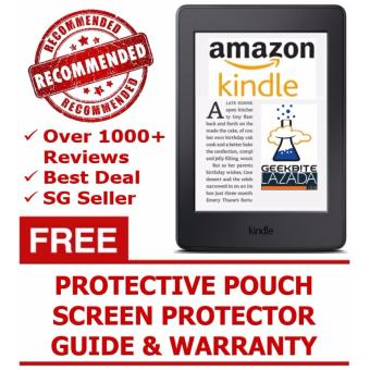 Amazon Kindle Paperwhite 300 PPI 2016 + Kindle Protective Pouch + Screen Protector (USA/Special Offers) - Black