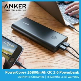 Harga Anker PowerCore+ 26800mAh Quick Charge 3.0 Powerbank