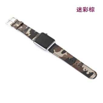 Harga Apple watch strap Apple Watch leather camouflage iwatch2 watch with 38/42mm sports strap