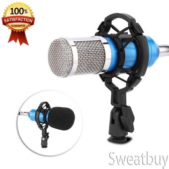 Audio Condenser Microphone Recording Mic with Shock Mount - intl