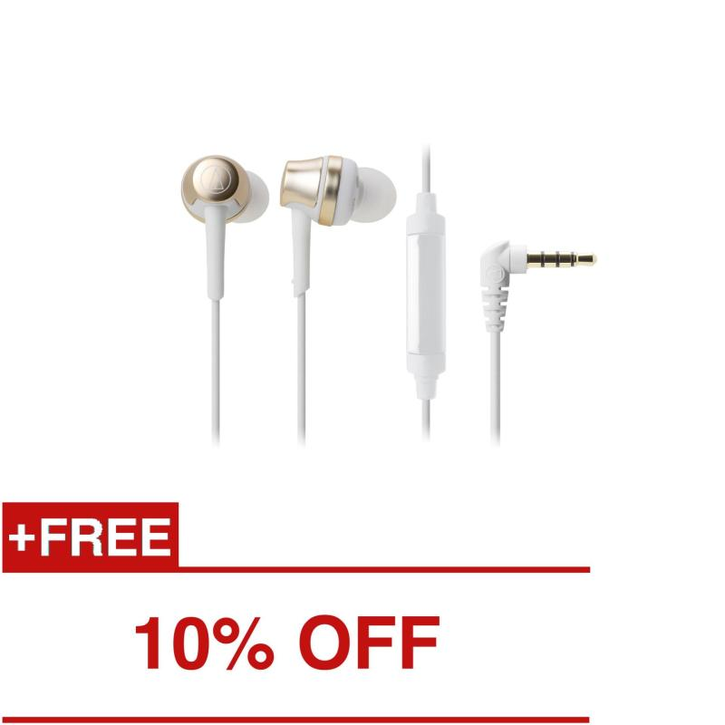 Audio-Technica ATH-CKR50iS In Ear Headphones for Smartphone (Champagne Gold) Singapore
