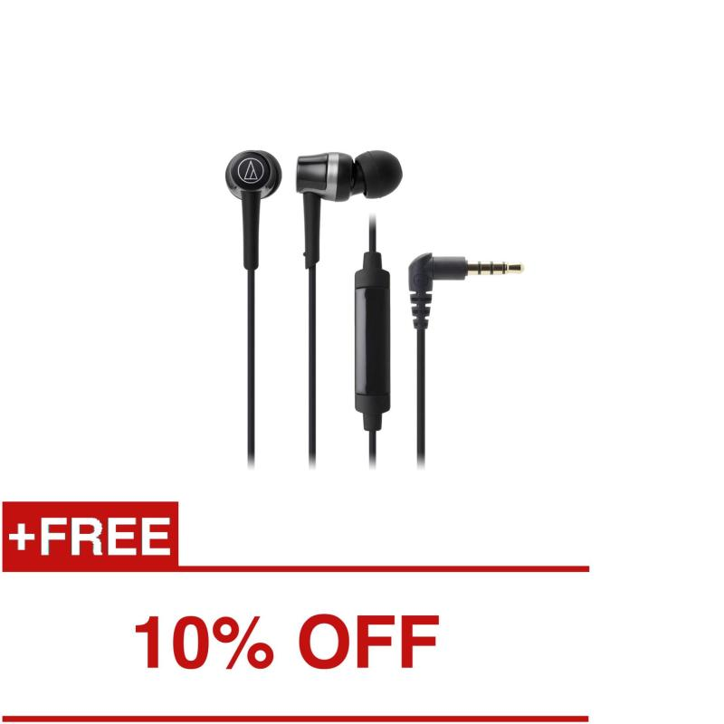 Audio-Technica Sound Reality ATH-CKR30iS In Ear Headphones for Smartphone (Black) Singapore