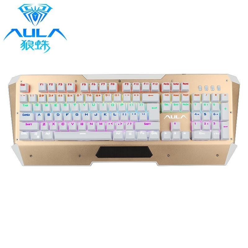 AULA Mixed Light 104 Keys Black Switches USB Gaming Keyboard with Colorful Backlit - intl Singapore
