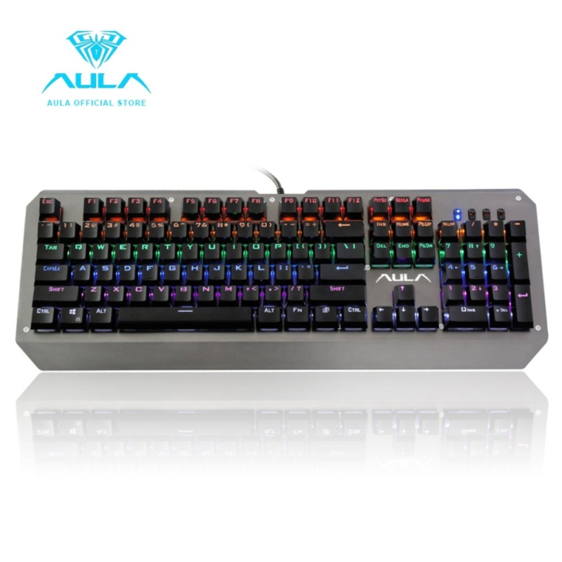 AULA OFFICIAL F2039 ASSAULT Mechanical Backlit Gaming Keyboard mechanical optical switch laser storm(Black) - intl Singapore