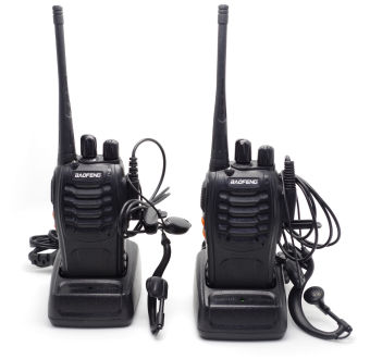 Baofeng Two Way Radio BF-888S 5W CTCSS 16 Channels with Earphone (Pack of 2PCS)