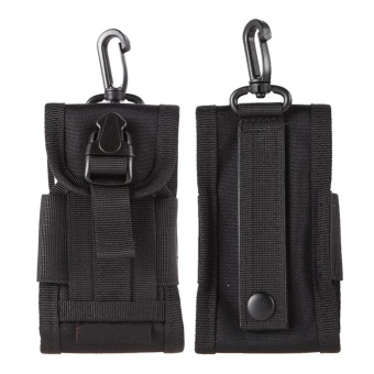 Harga Black Tactical Molle Cell Phone/Iphone Smartphone Waist Pouch -intl