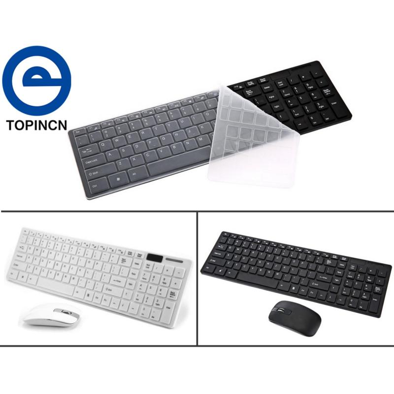 [Buy 1 Get 1 Free Gift] 2.4G Optical Wireless Keyboard and Mouse Mice USB Receiver Combo Kit for MAC PC Black - intl