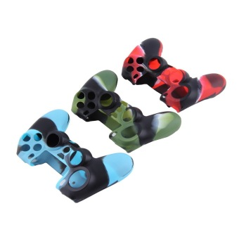 Camouflage Soft Silicone Case Cover For Sony PlayStation 4 PS4 Controller