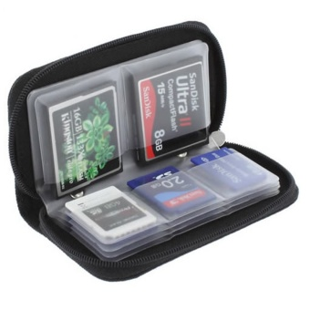 Case for Cameras Sd Sdhc Cards Sdhc Mmc Micro-Sd Memory Card Storage Carrying Wallet Pouch Holder Case Black - intl