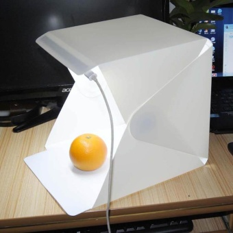 Convenient Mini Folded Studio Diffuse Soft Box LED LightPhotostudio Lamp - intl