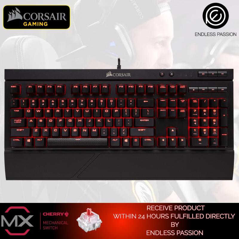 Corsair Gaming K68 Mechanical Keyboard, Backlit LED, Cherry MX Red, Dust and Spill Resistant Singapore