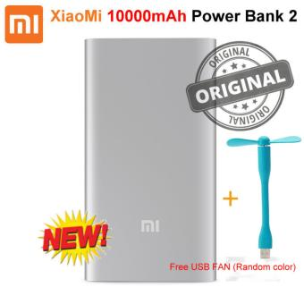 Harga (Export) Xiaomi Mi Power Bank 2 10000mAh Quick Charge Portable Charger (Silver)