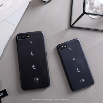 Fingertips obsessed with iphone7 phone shell simple black moon 5s matte 6s edging anti-wrestling 6plus hard shell