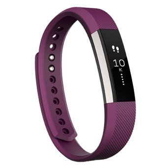 Fitbit Alta Fitness Tracker Wristband Watch (Plum Large)