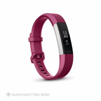 "Fitbit Alta HR Heart Rate + Activity Tracker Large 6.7"" - 8.1"" Fuchsia"
