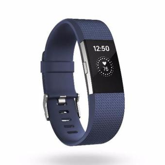 Fitbit Charge 2 Heart Rate + Fitness Wristband, Blue,Large(Wrist/Band)