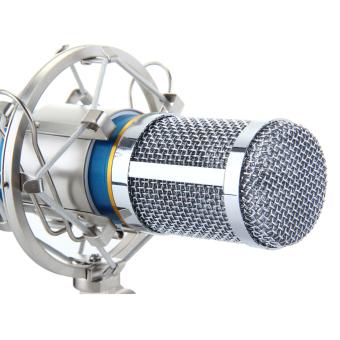 Floureon BM-800 Cardioid Condenser Microphone With ShockMount(Blue) - 4