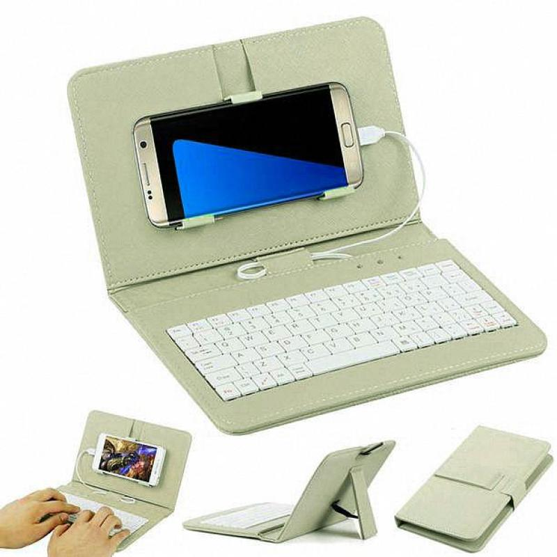 General Wired Keyboard Flip Holster Case For Andriod Mobile Phone 4.2-6.8 GN - intl Singapore
