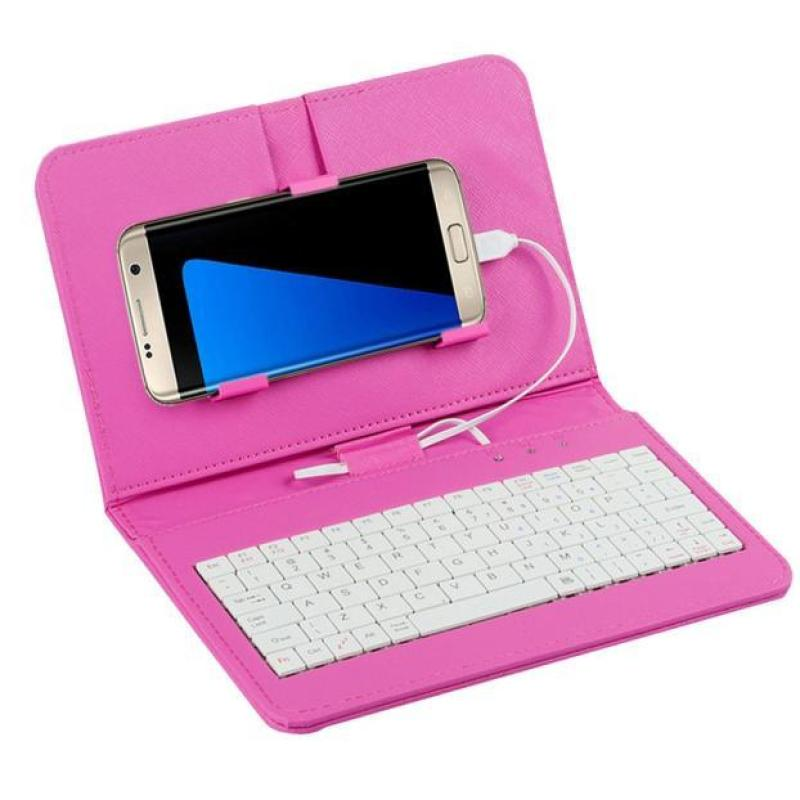 General Wired Keyboard Flip Holster Case For Andriod Mobile Phone 4.2-6.8 PK - intl Singapore