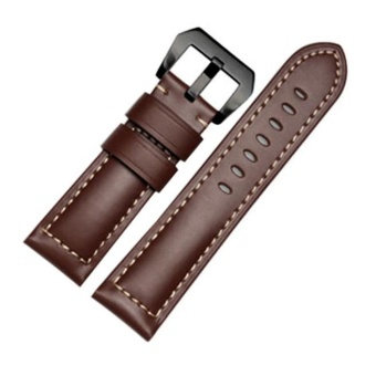 Genuine Leather Watch Band Strap + Lugs Adapters For Garmin Fenix 3/ HR - intl