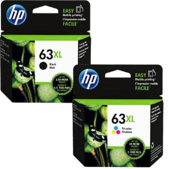 HP 63XL Black & Color (High Yield) Combo pack