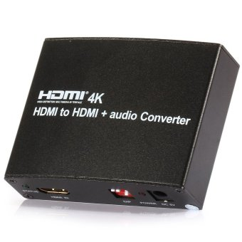 Harga JF-link v1.4 4K*2K EDID 3D HDMI to HDMI Audio Converter Adapter Box Audio Splitter Support Optical/Coaxial/3.5mm Audio out