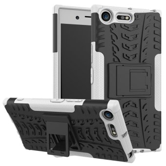 Harga Armor case For Sony Xperia XZ Premium Silicone & Plastic 2 in 1 Shockproof protector with kickstand Holder Stand - intl