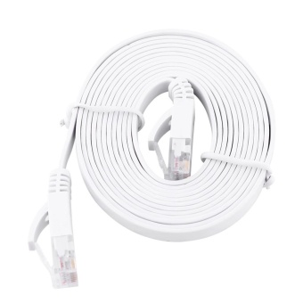 Harga 2meters RJ45 CAT6 Ethernet Network Flat LAN Cable UTP Patch Router Cables 1000M - intl