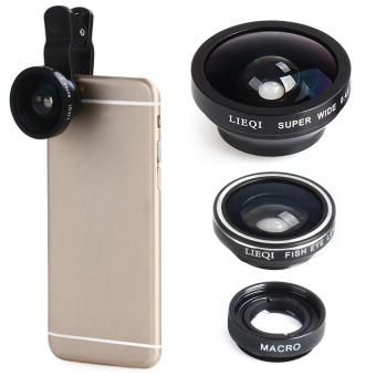 Harga LIEQI LQ - 003 Multi-coating Glass 3-in-1 Fisheye Macro 0.4X Super Wide Angle Lens for Smartphones iPhone 6 Plus iPad Air Samsung Galaxy S6 Edge HTC Notebook PC etc. - intl