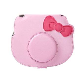 Fujifilm Instax Hello Kitty Instax Mini 8 Polaroid Instant Camera Leather Cover Pink