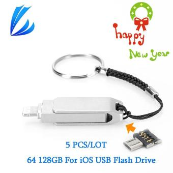 Harga 128GB 3 IN 1 Pen Drive Memory Stick Mini USB OTG For iOS iPhone i-Flash Drive - intl