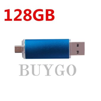Harga BUYGO Otg Dual Usb Micro Usb3.0 128GB Flash Pen Thumb Drive Memory Stick Flash Drive - intl