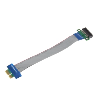 OH PCI-E 1X Slot Riser Card Extender Extension Ribbon Flex Relocate Cable
