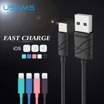 Harga USAMS 1m Length 2A Fast Charger Usb Charging Cable for IPhone 5s Iphone 7 - intl