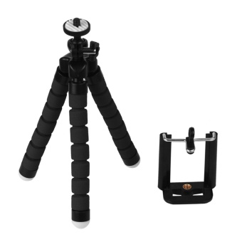 Tripod Flexible Octopus Bracket Holder Stand Mount for Cell Phone Samsung Camera Black - intl