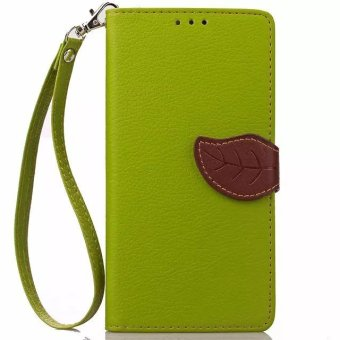 Harga Flip Leather Wallet case Cover For Xiaomi Mi 4i / 4c (Green) - intl