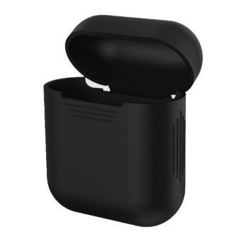 For Apple AirPods Case Portable Headphone Box Cover Skin Silicone Shock Proof Carrying Case Protection Sleeve for Apple AirPods Wireless Earphone Box Black - intl