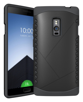 Harga BYT Hybrid Shield Back Cover Case for OnePlus Two (Black)