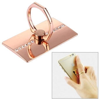 Harga VENICEN Universal Rotatable Diamond Encrusted Metal Ring Holder / Car Hanging Ring For IPhone / IPad / Samsung Galaxy S6 / S5 / S4 / HTC / Nokia / LG Mobile Phone(Rose Gold)