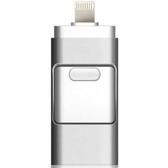 Harga Pen Drive for Apple Iphone 6s USB Flash Drive 128GB USB Stick Andorid OTG Pendrive U Disk 3 in 1 Memory Stick USB 2.0 (Silver) - intl