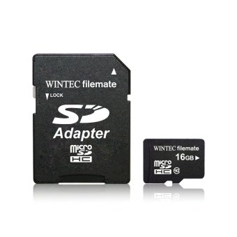 Harga USA Wintec FileMate microSD Card 16GB Class 10 with SD Adapter Retail