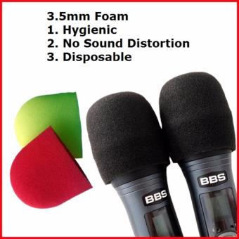 Harga 60 Disposable Microphone Foam /Microphone Cover(3.5mm)(Red and Yellow) or (Black)