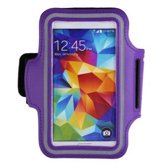 Harga Stylish Sports Gym Running Armband Pouch For Samsung S5 S4 S3 S2 Purple