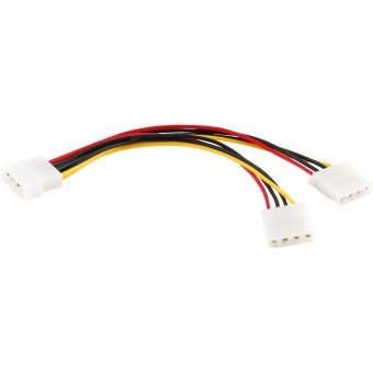 Harga 4-pin Molex Male to 2x Female Power Y-Splitter Cable IDE IP4 Extension Adapter
