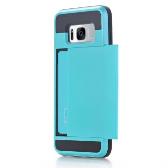 Harga 2 in 1 Silicone & plastic Shockproof case for Samsung galaxy S8 plus with credit card slot mobile phone Cases - intl