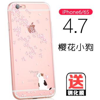 Iphone6 soft silicone shell phone sets apple s female korean 6splus inclusive creative personality six new p