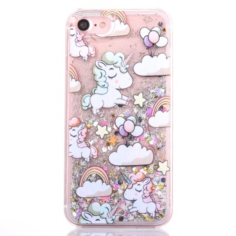 Harga Unicorn Horse Liquid quicksand shell case samsung S5 s6 s7 edge unicorn