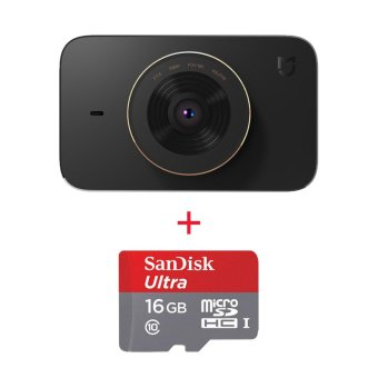 Harga Xiaomi MiJia Video Recorder Car DVR w/ SONY IMX323 Sensor, 16GB Memory - intl